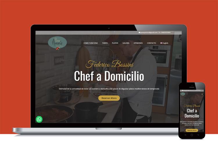 Web cocinero a domicilio